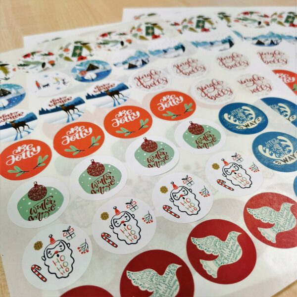 Christmas Printed Stickers