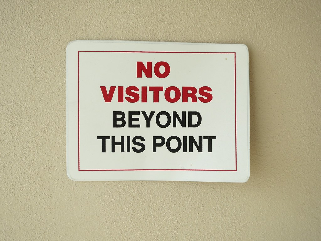 No visitors due to pandemic